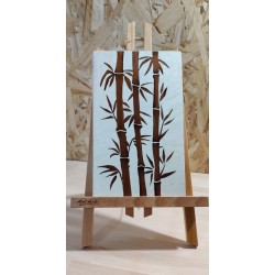 Bambous marrons (fond blanc)