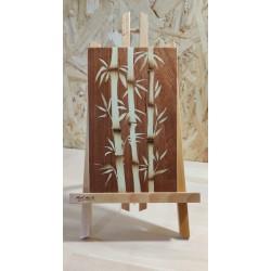 Bambous beiges (fond marron)