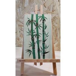 Bambous verts (fond beige)