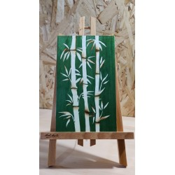 Bambous blancs (fond vert)